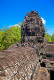 The ancient ruins of a historic Khmer temple in the temple compl Royalty Free Stock Image