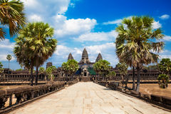 The ancient ruins of a historic Khmer temple in the temple compl Royalty Free Stock Images