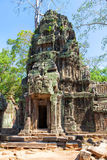 The ancient ruins of a historic Khmer temple in the temple compl Royalty Free Stock Photography