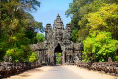 The ancient ruins of a historic Khmer temple in the temple compl. Ex of Angkor Wat in Cambodia. Travel Cambodia concept Royalty Free Stock Photo