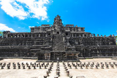 The ancient ruins of a historic Khmer temple in the temple compl. Ex of Angkor Wat in Cambodia. Travel Cambodia concept Stock Photography
