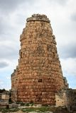 Ancient ruins of historical tower from Roman Empire in Antalya, Turkey. City architecture building old travel antique culture europe european forum history royalty free stock photo