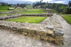 Ancient ruins of Ingapirca. View of the ancient Inca ruins of Ingapirca, Ecuador, on an overcast day Stock Photography