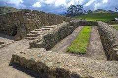 Ancient ruins of Ingapirca. View of the ancient Inca ruins of Ingapirca, Ecuador, on an overcast day Stock Photos