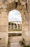 Ancient Agora, Athens, Greece. Ancient ruins inside Roman Agora, Athens, Greece Royalty Free Stock Image
