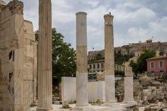 Ancient Agora, Athens, Greece. Ancient ruins inside Roman Agora, Athens, Greece Royalty Free Stock Photos