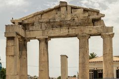 Ancient Agora, Athens, Greece. Ancient ruins inside Roman Agora, Athens, Greece Stock Image