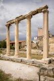 Ancient Agora, Athens, Greece. Ancient ruins inside Roman Agora, Athens, Greece Royalty Free Stock Photo