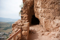 Ancient ruins in Israel. Ruins in Arbel mountain, galilee, Israel  tourism Stock Photos