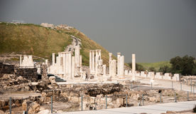 Ancient ruins in Israel travel Stock Photo