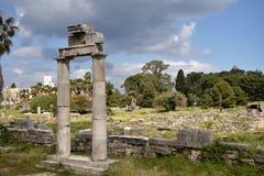 Ancient ruins. Ancient Italian ruins in Kos island, Greece Stock Photography