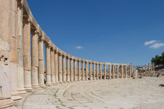 Ancient ruins in Jerash in Jordan Royalty Free Stock Image