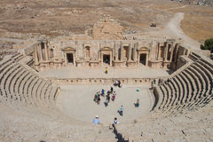 Ancient ruins in Jerash in Jordan Royalty Free Stock Photos