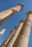 Ancient ruins in Jerash in Jordan Stock Photo