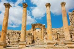 Ancient ruins at Jerash in Jordan Royalty Free Stock Images