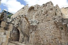 Old Jerusalem Ruins Stock Photography