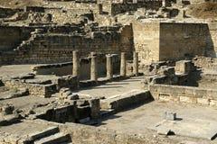 Ancient ruins of Kamiros, Rhodes Stock Photo