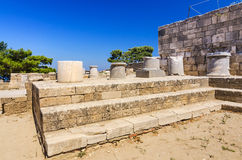 Ancient ruins in Kamiros, Rhodes Stock Images