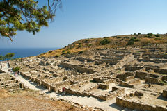Ancient ruins of Kamiros, Rhodes - Greece Royalty Free Stock Photo
