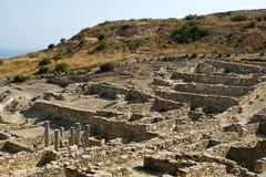 Ancient ruins of Kamiros, Rhodes - Greece Royalty Free Stock Photography