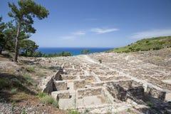Ancient ruins of kamiros in Rhodes, Greece Stock Photos