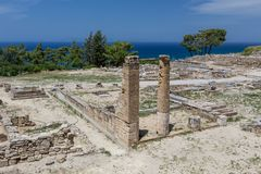 Ancient ruins of kamiros in Rhodes, Greece Royalty Free Stock Photography