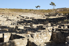 Ancient ruins of Kamiros - Rhodes stock photo