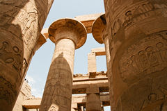 Ancient ruins of Karnak temple in Egypt. Royalty Free Stock Image