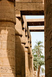 Ancient ruins of Karnak temple in Egypt. Stock Photography