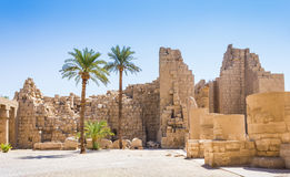 Ancient ruins of Karnak temple in Egypt Royalty Free Stock Photo