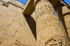 Ancient ruins of Karnak temple in Egypt Stock Photography