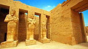 Ancient ruins of Karnak temple in Luxor . Royalty Free Stock Photo
