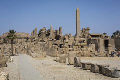 Ancient ruins of Karnak temple in Luxor. Egypt Royalty Free Stock Photography
