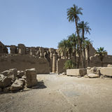 Ancient ruins of Karnak temple in Luxor. Egypt.  stock photo