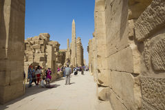 Ancient ruins of Karnak temple in Luxor. Egypt Royalty Free Stock Images