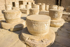 Ancient ruins of Karnak temple, Luxor, Egypt Royalty Free Stock Photos