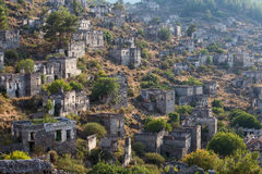 Ancient ruins of Kayakoy, Fethiye. Turkey Stock Images