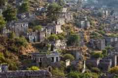 Ancient ruins of Kayakoy, Fethiye. Turkey Royalty Free Stock Image