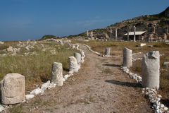 The ancient ruins in Knidos Royalty Free Stock Photography