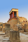 Ancient ruins of Knossos palace Crete. Greece Royalty Free Stock Photography