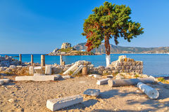 Ancient ruins on Kos royalty free stock images