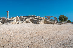Ancient ruins at Kourion in Cyprus Stock Photo