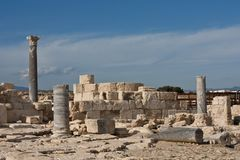 Ancient ruins in Kourion Place Royalty Free Stock Image