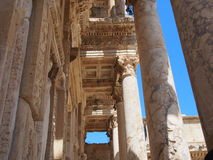 The Library of Celsus. An ancient roman building in Ephesus Izmir,Turkey Royalty Free Stock Images
