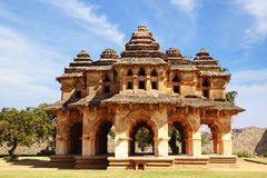 Ancient ruins of Lotus Temple. Hampi, India. Stock Photos