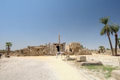 Ancient ruins Luxor Egypt royalty free stock images