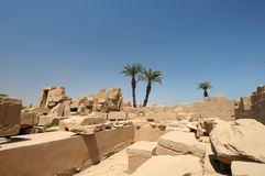 Ancient ruins Luxor Egypt Stock Photos