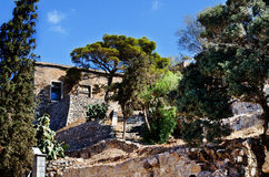 Ancient Ruins Of Medial Hospital Spinalonga Island Near Crete In Greece Royalty Free Stock Image