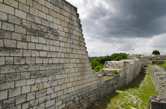 Ancient ruins of a medieval fortress close to the town of Shumen Stock Images