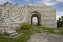 Ancient ruins of a medieval fortress close to the town of Shumen Royalty Free Stock Images